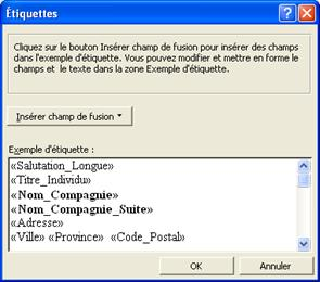 Prodon tiquettes ou enveloppes word 97 2003 logilys for Enveloppe fenetre word