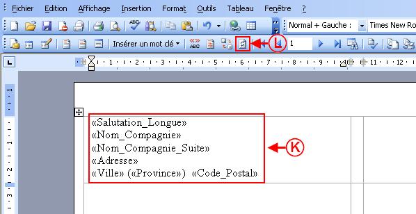 Prodon tiquettes ou enveloppes word 2002 2003 logilys for Enveloppe fenetre word
